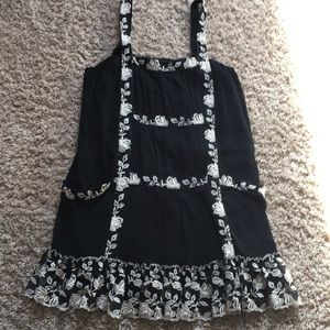 Black dress with floral detail